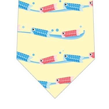 泳ぐ鯉のぼりネクタイ(黄色)の写真