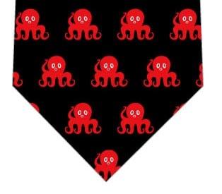 タコ並んだネクタイの写真
