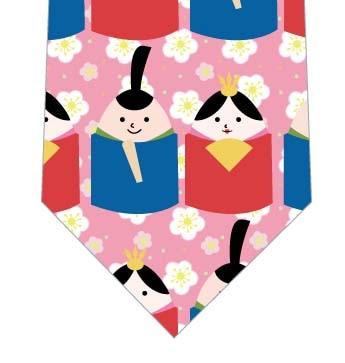 たまごびな並んだネクタイ(ピンク)の写真