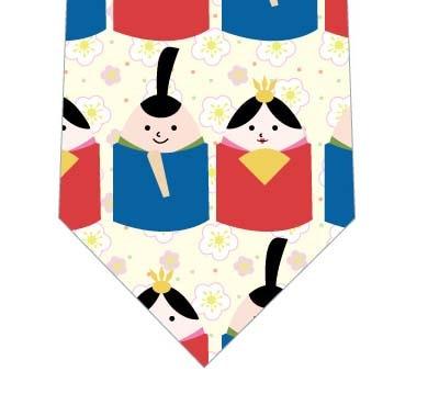 たまごびな並んだネクタイ(黄色)の写真