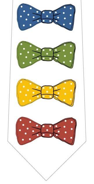 縦に並んだリボンネクタイの写真