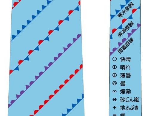 天気記号ネクタイ(水色)の写真
