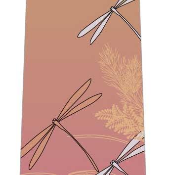 トンボと秋の草ネクタイ(暖色系)の写真