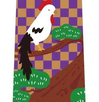 鶏寿ネクタイ(紫系)の写真