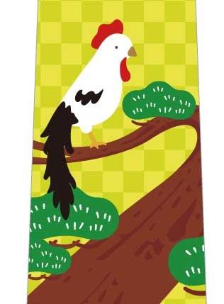 鶏寿ネクタイ(黄色系)の写真