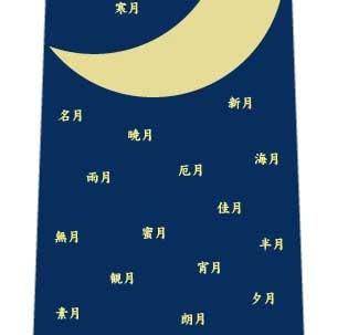 お月見ネクタイの写真