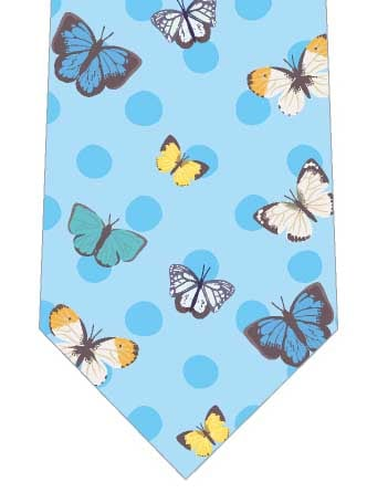 チョウと水玉模様ネクタイの写真