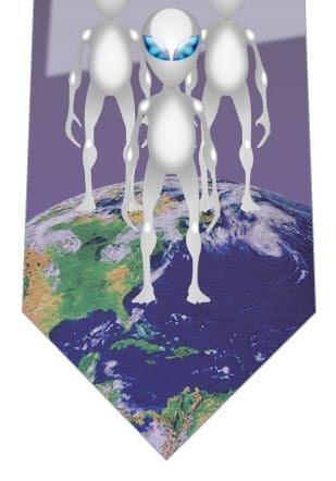 宇宙人が地球にやってきたネクタイの写真