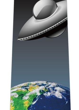 UFOが地球にやってくるネクタイの写真