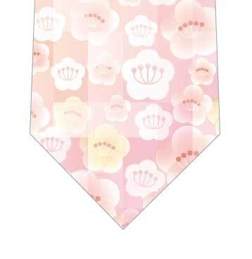 梅の花ネクタイの写真