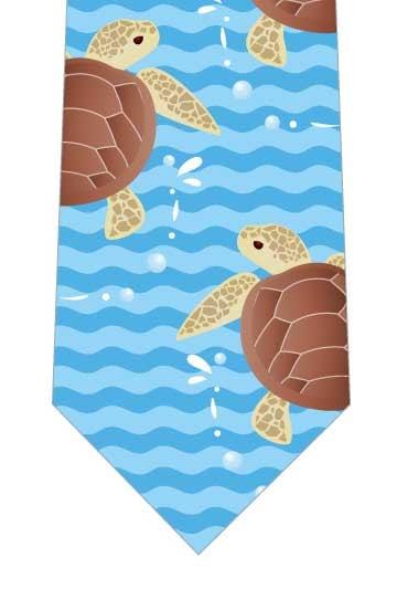 ウミガメの散歩ネクタイの写真