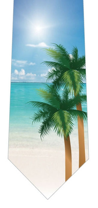 海とヤシの木ネクタイの写真
