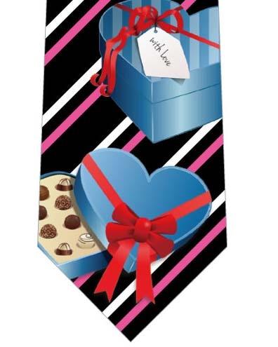 バレンタインチョコ(ストライプ)ネクタイの写真