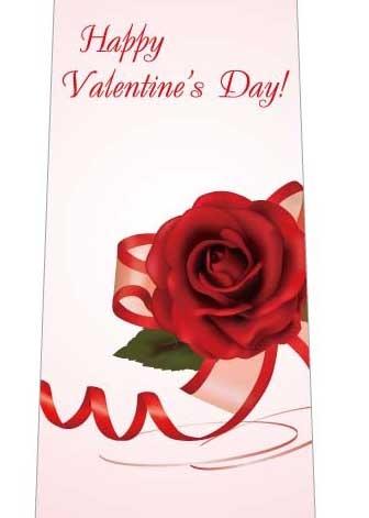 バレンタイン薔薇ネクタイの写真