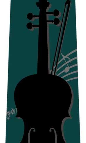 バイオリンネクタイ(緑)の写真