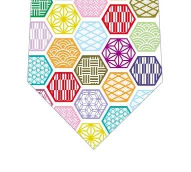 和柄パッチ六角形ネクタイの写真