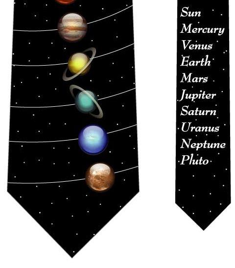 惑星ネクタイ(黒)の写真