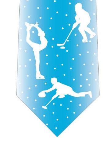 冬のスポーツネクタイ(水色)の写真