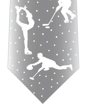 冬のスポーツネクタイの写真