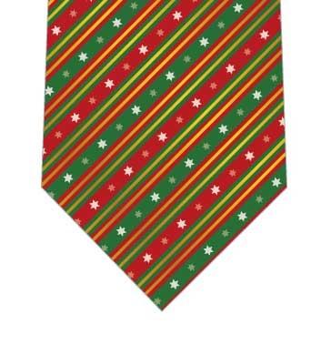 クリスマスリボンストライプネクタイの写真