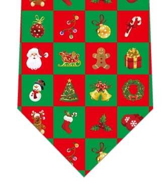 クリスマスブロックチェックネクタイの写真
