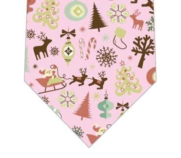 クリスマスは大忙しネクタイ(ピンク)の写真