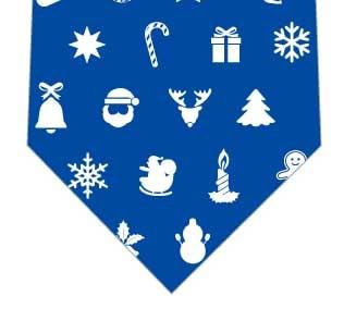 クリスマスアイコンネクタイ(青)の写真