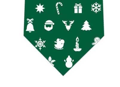 クリスマスアイコンネクタイ(緑)の写真