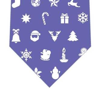 クリスマスアイコンネクタイ(紫)の写真