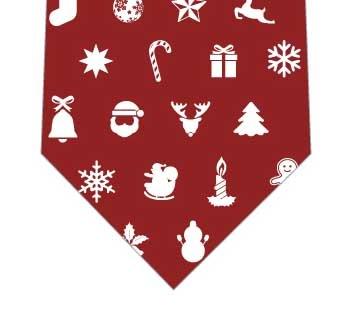 クリスマスアイコンネクタイ(赤)の写真