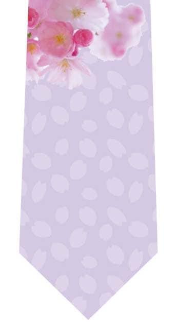 八重桜ネクタイ(薄紫)の写真