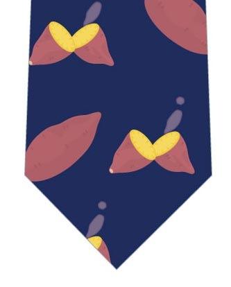 焼き芋ネクタイ(紺)の写真