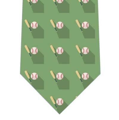 野球のアイコンネクタイ(緑系)の写真