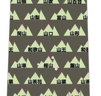 山のつく言葉ネクタイ(緑)の写真