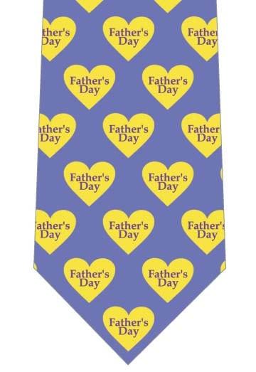 黄色いハートのお父さんありがとうネクタイの写真