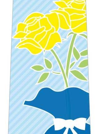 黄色い薔薇ネクタイの写真