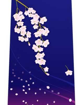 夜桜ネクタイの写真
