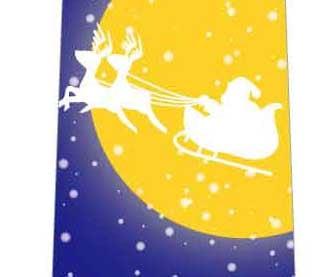 夜空とソリと雪ネクタイの写真