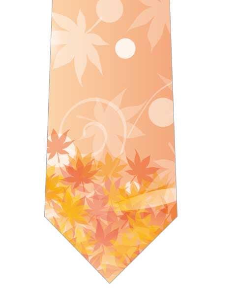 夕暮れの紅葉ネクタイ写真