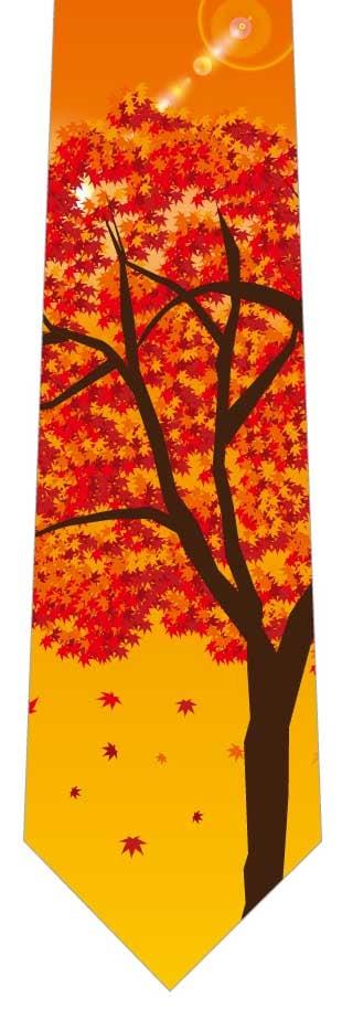 夕暮れの紅葉の木ネクタイの写真