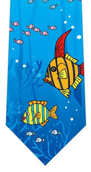 愉快な熱帯魚ネクタイの写真