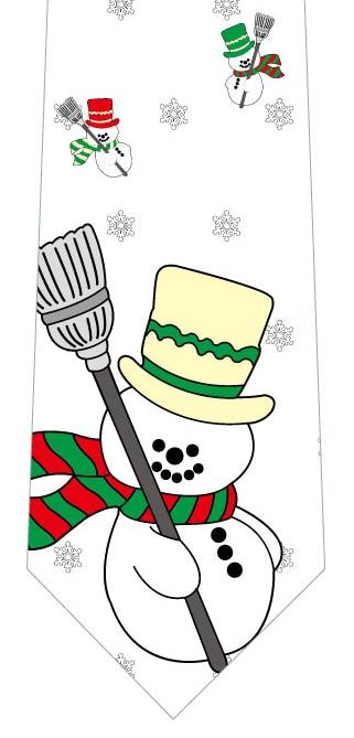 雪だるまと結晶ネクタイの写真