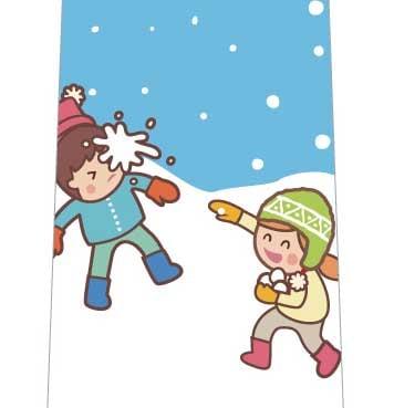 雪合戦ネクタイの写真