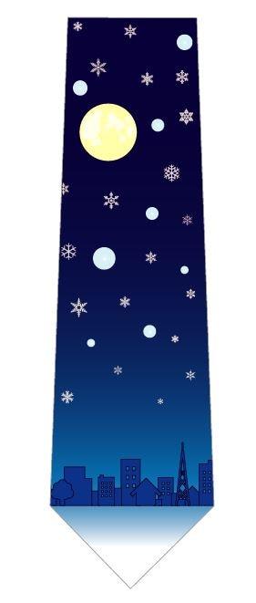 雪の降る街ネクタイの写真