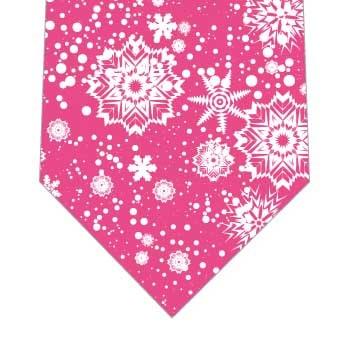 雪の結晶ネクタイ(ショッキングピンク)の写真