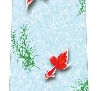 優雅に泳ぐ金魚ネクタイの写真