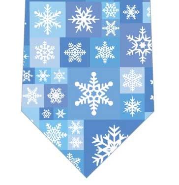 雪の結晶タイルネクタイの写真