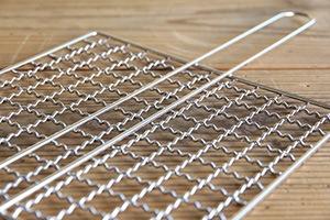 クッキングネット手付き1枚アミ 20×20cm (工房アイザワ)