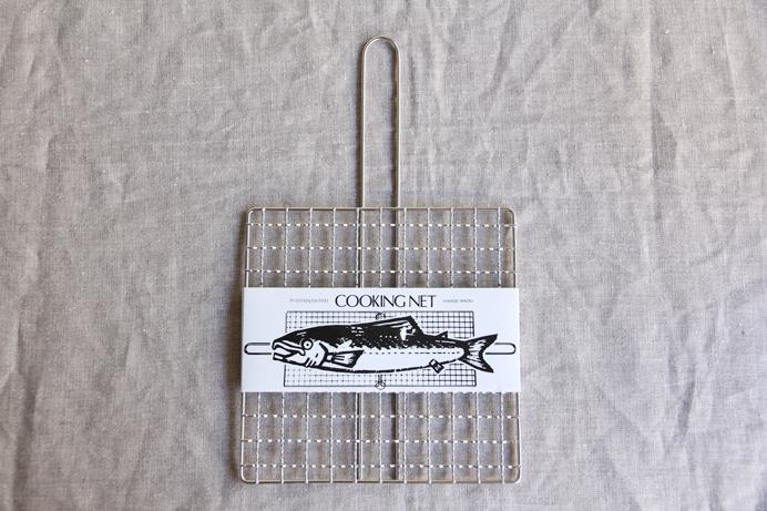 クッキングネット手付き1枚アミ 20×20cm