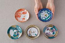 MOOMIN×amabro JAPAN KUTANI -GOSAI- ムーミン×アマブロ 五彩小皿(amabro)